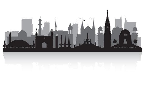 Karachi Pakistan city skyline silhouette