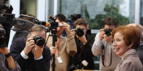 Klarsfeld arrives for news conference in Berlin