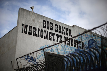 The exterior of the Bob Baker Marionette Theater is seen in Los Angeles, California