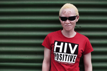 Khanyie Mzamane poses for a portrait in Cape Town's Khayelitsha township
