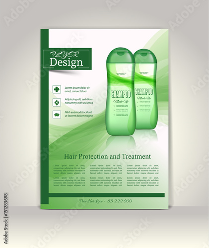 u0026quot flyer  brochure or magazine cover template  cosmetic ads