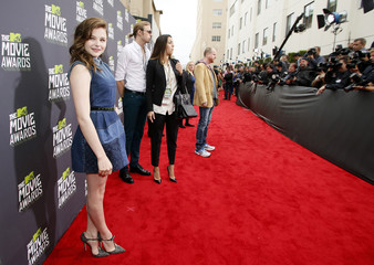 Actress Chloe Grace Moretz arrives at the 2013 MTV Movie Awards in Culver City