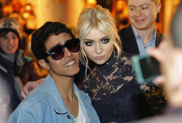 Actress and musician Taylor Momsen poses for a picture after she attended the Marchesa Fall/Winter 2012 collection during New York Fashion Week