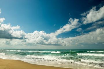 Landscape of sea and clouds, beautiful ocean beach