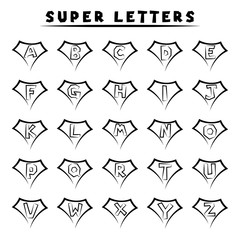 Super letters - tattoo style