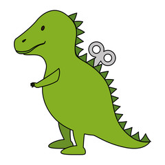 dinosaur rex toy icon vector illustration design