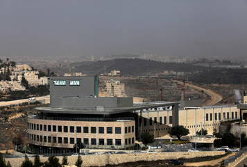 A building belonging to Teva Pharmaceutical Industries, the world's biggest generic drugmaker and Israel's largest company, is seen in Jerusalem