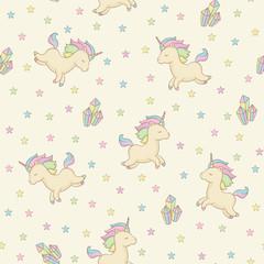 Unicorn seamless pattern