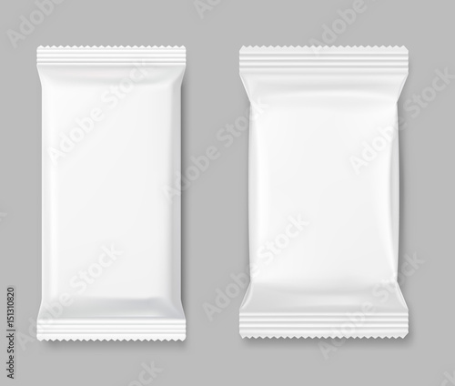Set of packing mockup on a gray background  Vector