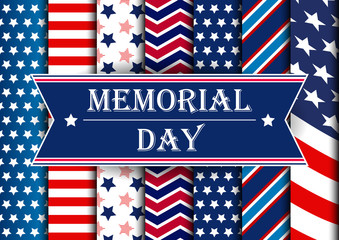 Memorial Day Banner. Memorial Day Background.