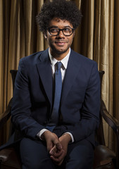 "Actor Richard Ayoade poses to promote the new movie ""The Watch"" at the Four Seasons in Los Angeles, California"