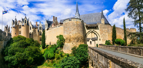 Great medieval castles of Loire valley - Montreuil-Bellay. France
