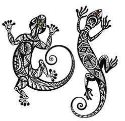 Decorative lizard set