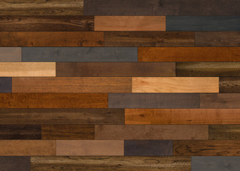 Obraz Mixed Species  Wood flooring pattern for background texture or interior design element - fototapety do salonu