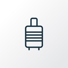 Valise Outline Symbol. Premium Quality Isolated Suitcase  Element In Trendy Style.