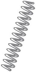 metal spring vector illustration