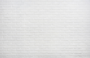 Zelfklevend Fotobehang Baksteen muur white brick wall background photo