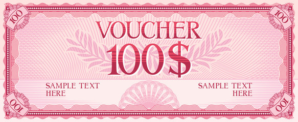 voucher design - 100 dollars (template)