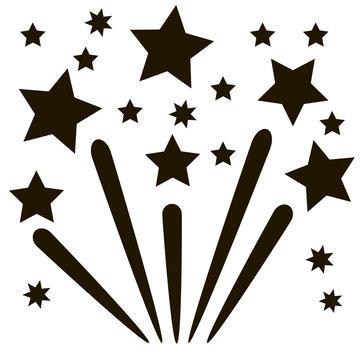Fireworks. Star icon background vector illustration on white background