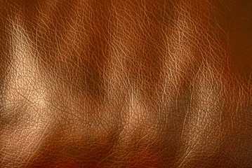 Brown leather texture background surface. Macro shot.