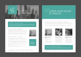 Modern brochure template flyer design vector template Wall mural
