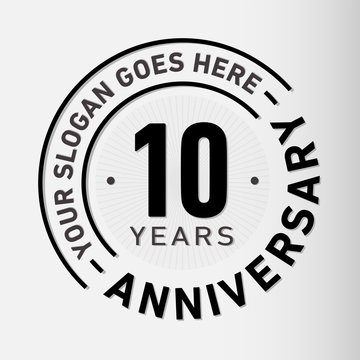 10 years anniversary logo template. Vector and illustration.