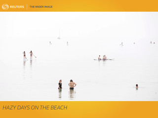 The Wider Image: Hazy days on the beach
