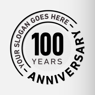 100 years anniversary logo template. Vector and illustration.