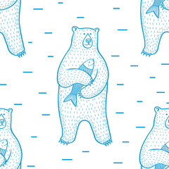 bear_pattern/Seamless pattern with bears.