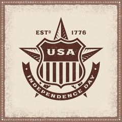 Vintage USA Independence Day Label
