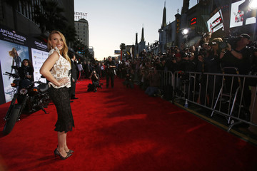 "Cast member Johansson poses at the premiere of ""Captain America: The Winter Soldier"" in Hollywood"