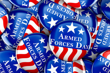 Armed forces day button background