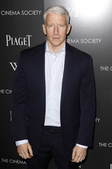 """Talk show host Anderson Cooper arrives at the screening of the film """"W.E."""" in New York"""