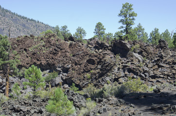 Aa Lava Flows at Sunset Crater Volcano National Monument