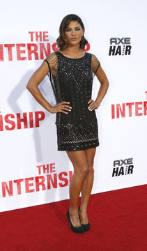 """Cast member Szohr poses at the premiere of """"The Internship"""" in Los Angeles"""