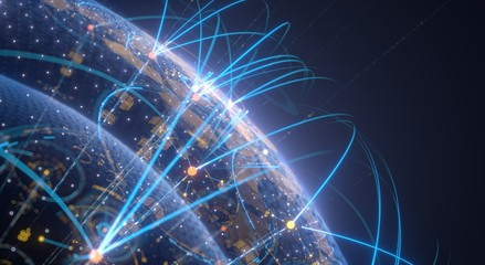 Network global connections. Internet concept digital tech