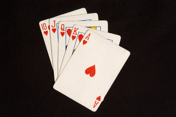 Royal Flush Card Hand
