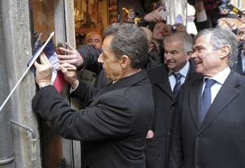 France's President Sarkozy campaigns for his re-election in Annecy