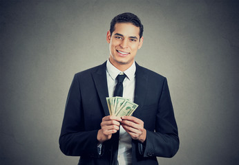 successful business man with money