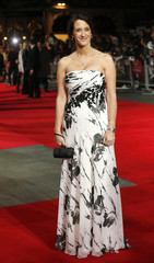 """Producer Allison Abbate arrives for the European premiere of the film """"Frankenweenie"""" at the Odeon Leicester Square in central London"""
