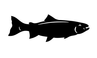 Simple vector fish silhouette trout