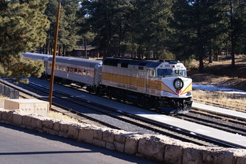 Train in Grand Canyon
