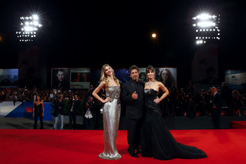"""Al Pacino, Lucila Sola and Camila Sola attend the red carpet for the movie """"The Humbling""""at the 71st Venice Film Festival"""