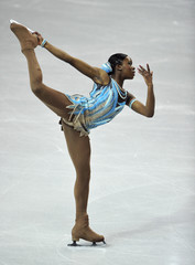 Silete of France performs during the women's free skating programme at the European Figure Skating Championships at the Motorpoint Arena in Sheffield