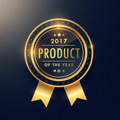 product of the year golden label design