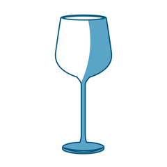 wine glass cup drink liquid shadow vector illustration