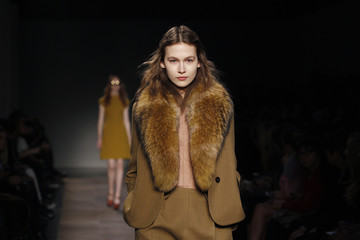 A model presents a creation by French designer Henry for Carven as part of his Fall/Winter 2012-2013 women's ready-to-wear collection fashion during Paris fashion week