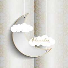 Ramadan Kareem vector illustration template card for design.