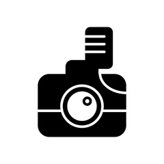 Camera line icon, solid vector illustration, linear pictogram isolated on white.