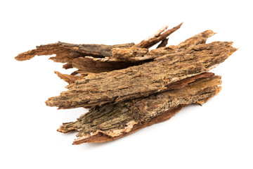 Bark tree isolated on white background,(nomnang)Thailand herbs,Herbal breast milk